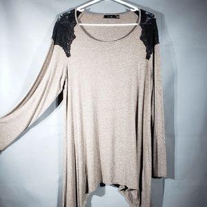 Apt 9 Lace Shoulder Tunic